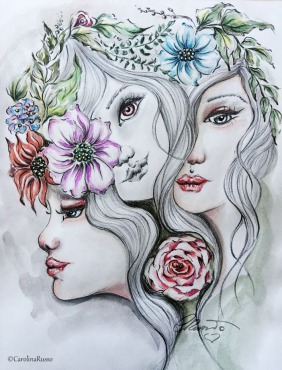 Mystical Multitude - Original Watercolor Graphite ©Carolina Russo