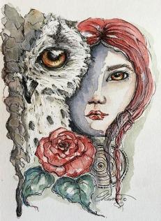 Day 1 - Strong & Free - Original Watercolor ©Carolina Russo