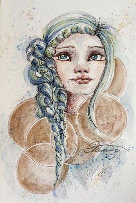 Day 12 - Golden Evenings - Original Watercolor ©Carolina Russo