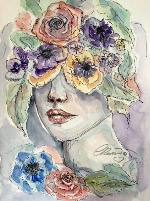 Day 13 - Unseen (Off Prompt) - Original Watercolor ©Carolina Russo