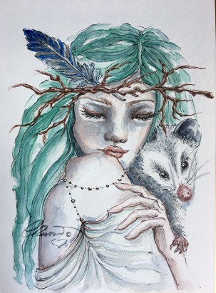 Day 14 - Peaceful (Off Prompt) - Original Watercolor ©Carolina Russo