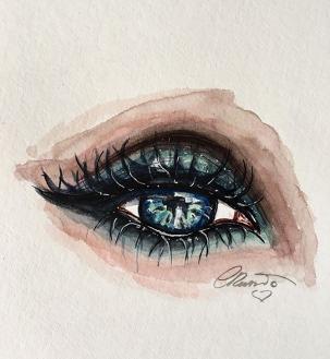 Day 16 - Introspection (Off Prompt) - Original Watercolor ©Carolina Russo