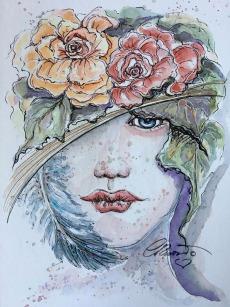 Day 2 - In The Shade - Original Watercolor ©Carolina Russo