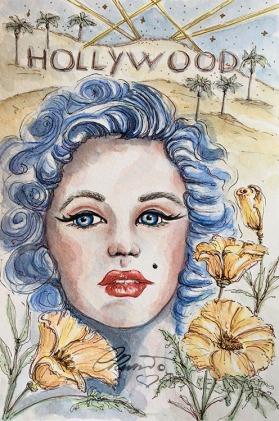 Day 20 - California Dreaming - Original Watercolor ©Carolina Russo