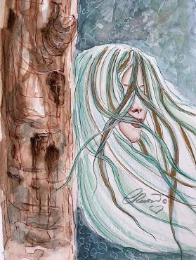 Day 21 - Wind In The Trees - Original Watercolor ©Carolina Russo