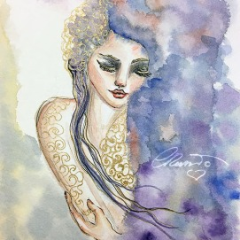 Day 30 -Out Of The Storm - Original Watercolor ©Carolina Russo
