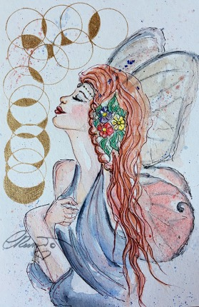 Day 31 - Things With Wings - Original Watercolor ©Carolina Russo