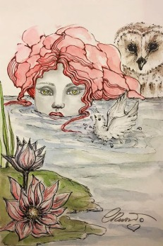 Day 8 - Cooling Off - Original Watercolor ©Carolina Russo