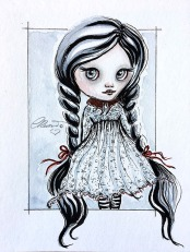 Wednesday Addams - Original Watercolor ©Carolina Russo
