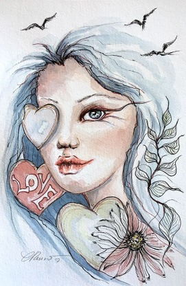 Love - Watercolor Painting by ©CarolinaRusso