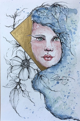 Day 13 - Watercolor Painting ©CarolinaRusso