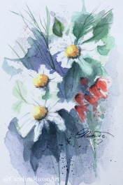 Wildflowers - Watercolor Painting ©CarolinaRusso