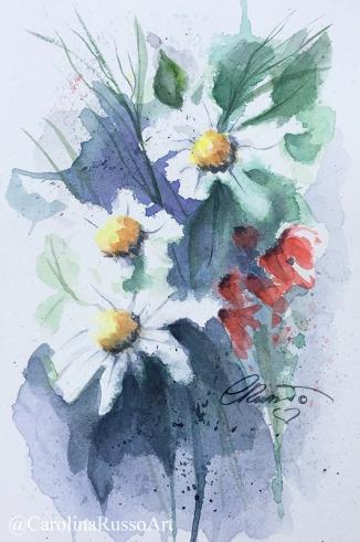 Wildflowers - Watercolor Painting ©CarolinaRusso