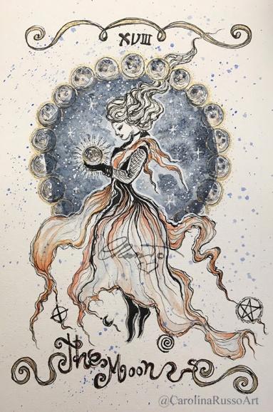 Day 10 - 11 Pattern Witch Snow Tarot ©Carolina Russo