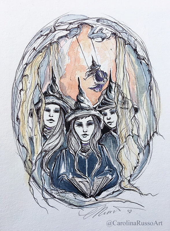 Inktober 2019 – MabsDrawlloweenClub Day 9: Swing – Coven