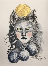 Days 20 - 21Tread - Treasure - Moon - Werewolf