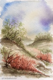 Day 23 - Prompt: Alone -Watercolor ©CarolinaRusso