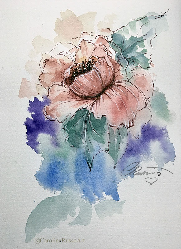 The World Watercolor Month 2020 – Day 9