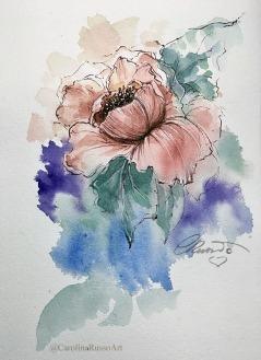 Day 9 - Peonias - Watercolor ©CarolinaRusso